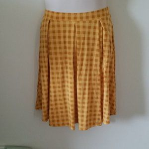 yellow and gold checked skirt